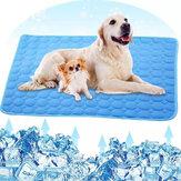小さなペットの動物のためのペットマットベッドの犬の猫の家のクールなシルクマットレスアイスパッド毛布を冷却する