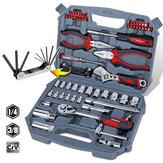 Hi-Spec 67pcs Conjunto de ferramentas manuais Métrico Car Auto Repair Mecânica automotiva Tool Kit Home Garage Tomada chave Ferramentas com ferramenta Caso