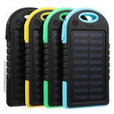 Excellway® المحمولة 10000mAh تعمل بالطاقة الشمسية نظام شاحن USB البطارية شاحن حالة للتخييم في الهواء الطلق