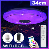 Bluetooth WIFI LED Luz de techo 256 RGB Music Speeker Dimmable Lámpara APP Control remoto