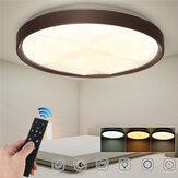 50CM 3 modos reguláveis LED luz de teto de diamante ultrafino + 2.4G / infravermelho Controle Remoto 180-260V