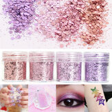 Rosa Violeta Misturada Brilho Pó 1mm Sequins Shining Dust Unhas Art Decoration Eye Shadow 10ml