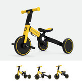 UONIBABY 4-in-1 Kid Tricycle Folding Children Balance Bike Baby Push Scooter Baby Stroller for 1-6 Years Old