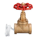 Vintage Steampunk 1/2 Inch Red Handle Stop VAlve Light Switch met draad voor waterleidinglamp