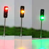 3Pcs 50mm DIY Model 3-Light Semaforo Signal Architecture Street Train