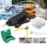 110V Coche Antorcha de soldadura de plástico de parachoques herramienta Kit Máquina soldadora + 200 Stap + Alicates