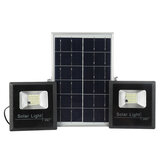 2*54LED Solar Powered  Flood Light Outdoor Garden Security Flood Lamp+Remote