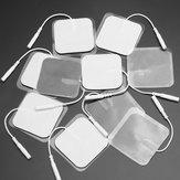 Almofadas de almofada do eléctrodo dos dez da substituição 40pcs EMS 5x5cm pano branco