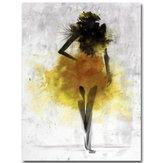 أزياءصفراءفتاةالحدالأدنىالفن التجريدي قماش النفط لوحات الطباعة مؤطرة / غير المؤطرة