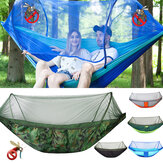 250x120cm Double Person Camping Hammock with Mosquito Net Breathable Folding Sleeping Hanging Swing Bed Outdoor Travel