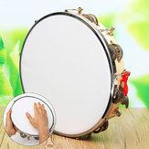 Cuero de poliéster tambor pandeiro de la pandereta Samba Brasil instrumento de música de madera