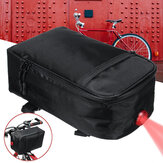 28*16*11cm Large Capacity Waterproof Night Cycling Electric Bike Bicycle Rear Rack Battery Pack Mobile Phone Tablet Storage Bag with Light