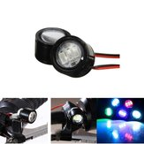 12V DC 6W à prova de água LED Light Motocicleta Scooter Bicycle Rear View Mirror Lamp Handlebar