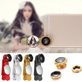 Universal 3in1 Fish Eye Wide Angle Micro Zoom Camera Lens Kit For iPhone Samsung Mobile Phone