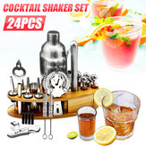 24Pcs 25oz Bartender Martini Cocktail Shaker Set Mixer Home Bar Инструмент Набор + База
