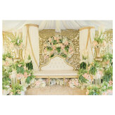 120x80CM Romantic Flower Wall Photography Backdrop Cloth Wedding Party Photo Background Decoration