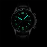 WISHDOIT WSD-002 Модные мужские кварцевые часы Роскошные светящиеся наручные часы бизнеса