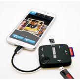 Micro USB to SD TF M2 MS Card Reader OTG Hub for Mobile Phones