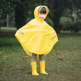 7th Children Cloak Raincoat Boy Girls Waterproof Poncho with 3M Reflection Strip For Children Rain Coat