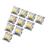 10PCS Pack 3Pin Gateron Linear Yellow Switch Keyboard Switch for Mechanical Gaming Keyboard