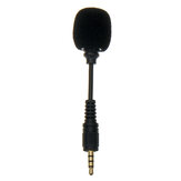Mini 3.5mm Jack Cellphone Flexible Mic 4-pole Stereo Microphone for iPhone Android Smartphone Recorder