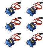 6 PCS SG90 Mini Analog Gear Micro Servo 9g Untuk RC Airplane Helicopter