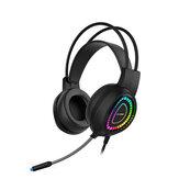 Bonks G3 casque de jeu virtuel 7.1 canaux rétro-éclairage RGB casque stéréo Surround avec Microphone auriculares pour PC portable Gamer