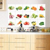 45*70cm Kitchen Vegetable Fruit Oil-proof Wall Sticker Removable Waterproof Sticker Home Decor