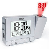 FanJu FJ3531 Projection Alarm Clock USB Charger Snooze Double Alarm Backlight Desk Clock