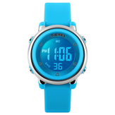 SKMEI 1100 Fashion Anak-anak Digital Watch LED Alarm Backlight Boys Girls Sport Watch