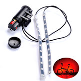 BIKIGHT MTB Fiets Fork Light Strip Light Bar 12 LED 8 modi Waterdichte Wheel Lamp
