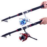 ZANLURE 2.4m/3.6m Glass Fiber Sea Telescopic Fishing Rod Reel Combo Sea Fishing Suit