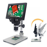 Microscopio digital MUSTOOL G1200 12MP 7 Inch Pantalla grande en color Base grande LCD Pantalla 1-1200X Continuo