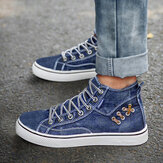 Original              Mujeres Denim Cómodo Usable Deportes casuales High Top Flats