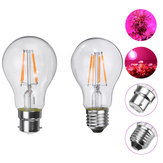 E27 B22 4W A60 COB Non-Dimmable LED Grow Light Bulb for Plant Hydroponic Greenhouse AC85-265V