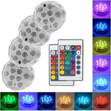 Original              1/2/4Pcs LED RGB Submersible Swimming Pool Light Remote Underwater Pond Lamp Bulbs IP68