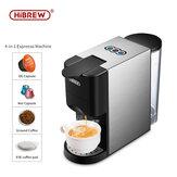 Máquina de expreso de cápsulas múltiples HiBREW 3 y 4 en 1 para cafetera en polvo Dolce gusto ESEpod cuerpo de acero inoxidable