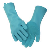 Magic silicone Rubber Handschoen Dish Washing Cooking Glove Cleaning Hittebestendige Kitchen Tool