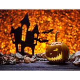 7x5FT Castle Pumpkin Lantern Halloween Theme Photography Backdrop Studio Prop Background