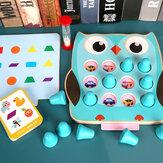 Gra pamięciowa 2 w 1 Detektyw Drewniana pamięć Szachy Zabawki szkoleniowe dla dzieci Prezent dla dzieci