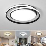 38W 45X5CM LED Ceiling Light Fixture Black Ring Modern Home Living Room Decor