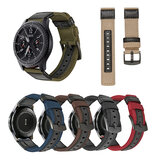 Bakeey 20/22mm Width Canvas Nylon Woven + Leather Watch Band Strap Replacement for Samsung Gear S3 Huawei