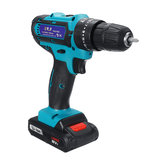 Drillpro 88VF Cordless Electric Impact Drill Li-ion Battery Rechargeable 25+3 Torque Screwdriver Bit