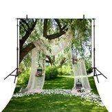 5x3ft 7x5ft 9x6ft E71522 Ethylene Propylene Spring Green Park Wedding Photography Backdrop Photo Background
