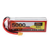 ZOP Power 14.8V 5000mAh 60C 4S Lipo Battery XT60 Plug for RC Racing Drone