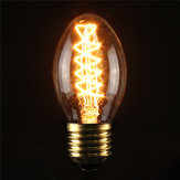 Incandescent Bulbs ST58 E27 40W Retro Edison Light Bulb AC 110-120V