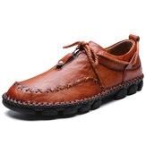 Mão de couro costura casual Soft sapatos de condução de negócios