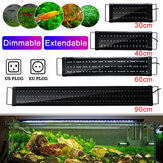 30/40/60/90cm LED Aquarium Fish Tank Light Stepless Dimming SMD2835 Water Grass Lamp AC100-240V