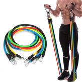 11PCS Multifunctional Resistance Bands Set Home Fitness Stretch Training Yoga Elastic Pull Rope