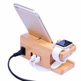 Station de charge multifonction Bakeey Bamboo pour Apple Phone Watch